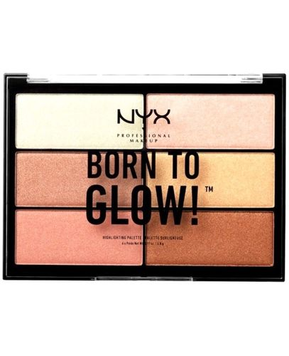 NYX Born To Glow Highlighting - korostuspaletti